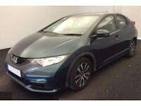 2014 GREEN HONDA CIVIC 1.6 I-DTEC SE DIESEL 5DR HATCH CAR FINANCE FR £29 PW