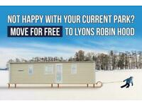 Move Your Static Caravan For Free To Lyons Robin Hood, Not Haven, Not Ty Mawr