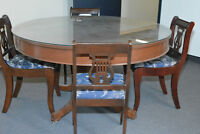Antique card table and Chairs
