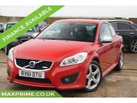 2011 VOLVO C30 D3 5 CYLINDER 150BHP IMOLA RED + FULL VOLVO HISTORY + LOW MILES
