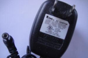 Ktec AC to AC ADAPTOR AC 120V~DC 12V  250mA Power Supply