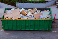 One (half day) only: construction bin drop-off & pick up