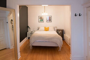7 1/2 fully furnished - meuble - little italy -  nov 1