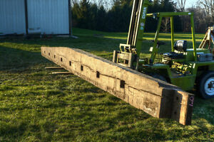 Antique Tapered Hand-Hewn Barn Beam .. -- 30.5 ft -- London Ontario image 4