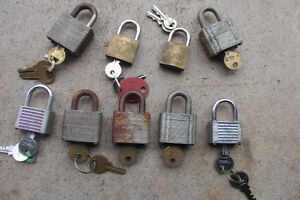 Variety Of Padlocks With Keys