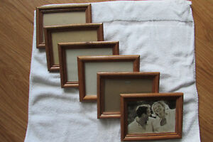 6 - Matching, brown wooden, picture frames