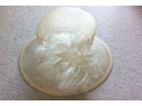 Ladies Wedding, Races, Formal Occasion Cream hat