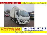 2007 - 57 - ISUZU NPR 70 6.2TON BOX LORRY C/W JETTER (GUIDE PRICE)