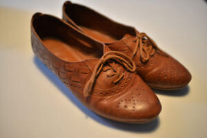 Soulier Wingtip retro leather craft
