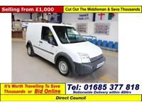 2008 - 08 - FORD TRANSIT CONNECT T200 1.8TDCI 75PS SWB VAN (GUIDE PRICE)