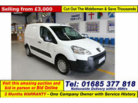 2010 - 60 - PEUGEOT PARTNER 850 S 1.6HDI 90PS VAN (GUIDE PRICE)