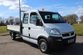 Vauxhall Movano D/C 2.5CDTI Dropside Truck 3500 28,923 Miles £7895 + VAT
