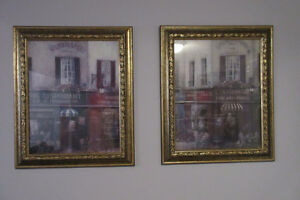 Pair of French Street Scene Prints