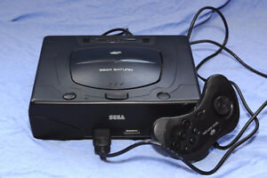 Sega Saturn With Controller And The Game Virtua Cop