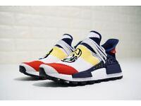 BBC x Pharrell x adidas NMD Human Race Trail - Franke dark blue white red yellow