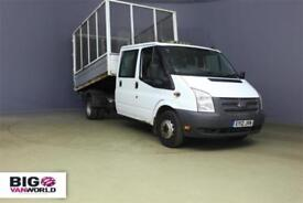 2012 FORD TRANSIT 350 TDCI 100 LWB 6 SEAT DOUBLE CAB CAGED TIPPER DRW RWD TIPPER