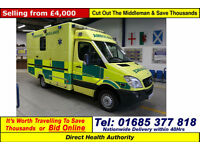 2008 - 58 - MERCEDES SPRINTER 515 2.2CDI AUTO UV MODULAR BODY AMBULANCE / CAMPER