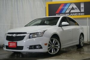 2011 Chevrolet Cruze LTZ Turbo w/1SA Leather Sunroof Bluetooth