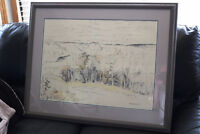 REDUCED RARE LARGE ORIGINAL DOROTHY KNOWLES LARGE PIECE