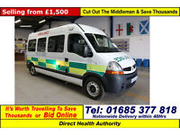 2007 - 57 - RENAULT MASTER LM35 2.5DCI 120PS 3 SEAT DISABLED ACCESS PTS MINIBUS