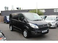 Ford Transit Custom 2.2TDCi 125PS 270 L1H1 Limited in Black + A/C - Onsite