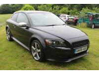 FROM £30 PER WEEK 2009 VOLVO C30 SPORT 2DR COUPE BLACK LOVELY LOW MILES