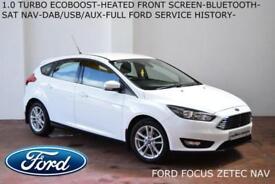 2016 Ford Focus 1.0 T (100ps) EcoBoost (s/s) Zetec-NAVIGATION-BLUETOOTH-FFSH-