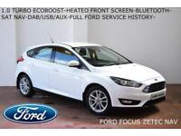 2016 Ford Focus 1.0 T (100ps) EcoBoost (s/s) Zetec-NAVIGATION-BLUETOOTH-FFSH-