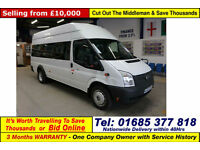 2012 - 12 - FORD TRANSIT T430 2.2TDCI 135PS RWD 17 SEAT MINIBUS (GUIDE PRICE)