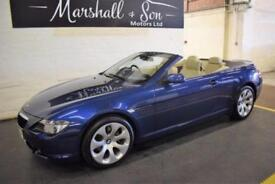 2005 05 BMW 6 SERIES 3.0 630I 2D AUTO 255 BHP CONVERTIBLE