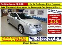 2011 - 61 - TOYOTA AVENSIS TR 2.2D-CAT AUTO 4 DOOR SALOON (GUIDE PRICE)