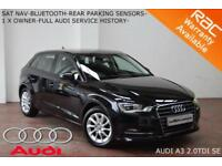 2014 Audi A3 2.0TDI (150ps) Sportback SE-NAV-PARKING SENSORS-BLUETOOTH-F.A.S.H.