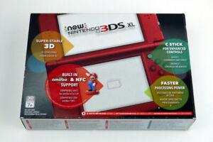 New Nintendo 3DS XL Red Edition + Mariokart 7 game
