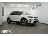 2018 Kia Stonic 1.0T-GDi 4 ISG 5 DOOR ONE OWNER IN CLEAR WHITE WITH BLACK ROOF O