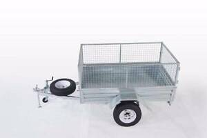 LOWEST PRICE EVER!!!! GAL TRADIE 7X5 BOX CAGE TRAILER $1249!! Wetherill Park Fairfield Area Preview