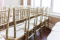 Budget Rental: Resin Chairs, Chiavari Chairs, Tables, Centrepcs