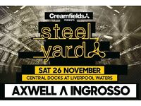 x2 Creamfields Steel Yard Tickets Liverpool