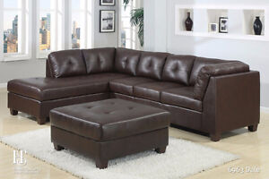 LEATHER SECTIONAL SOFA ONLY  FOR 799$