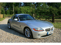 2004 BMW Z4 3.0 CONVERTIBLE MANUAL SPORTS ROADSTER WARRANTIED LOW MILEAGE
