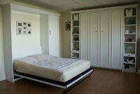 CUSTOM furniture saves space.MURPHYBEDS/home offices/used items
