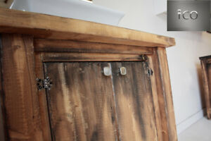 """Antique Post Reclaimed and Rustic finished vanity model SALE 30"""""""