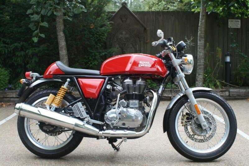 Royal Enfield Continental Gt In Red 535 Cc Single Cylinder Continental Gt