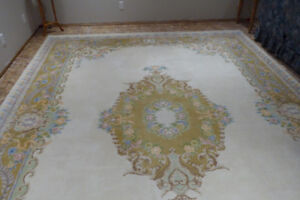 "Large Hand Knotted Indian Rug 14ft 2"" x 10ft"