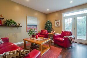 PALLISER  leather sofa & 2 chairs