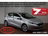 2013 Kia ceed 1.6CRDi (126bhp) 2 BLUETOOTH-LED'S-FREE ROAD TAX-FULL KIA S/H