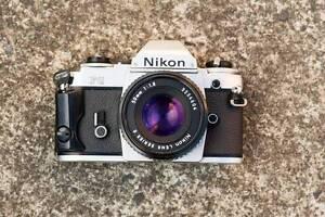 Nikon FG with Nikon Series E 50mm f1.8 pancake lens Mount Stuart Hobart City Preview