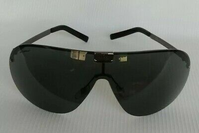 Vtg GUCCI GG 1853/S RGM95 Gray Pilot Rimless Sunglasses 115 mm Unisex Italy