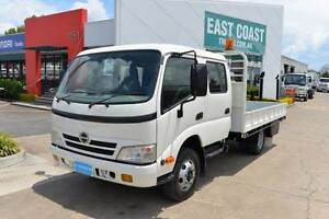 HINO DUTRO 716 ** DUALCAB ** TRAY DROPSIDE ** #4929 Archerfield Brisbane South West Preview