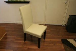 Faux Leather Modern Chair $25 each (one left)