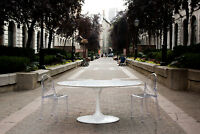 oval tulip table, marble, 168cm and 199cm